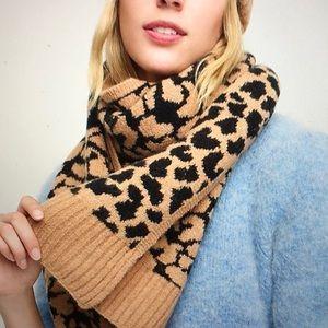 Leopard print scarf NWT Jcrew